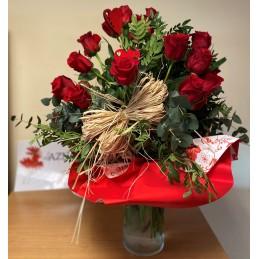 Ramo 25 rosas redondo - Viveros Aznar - Zaragoza