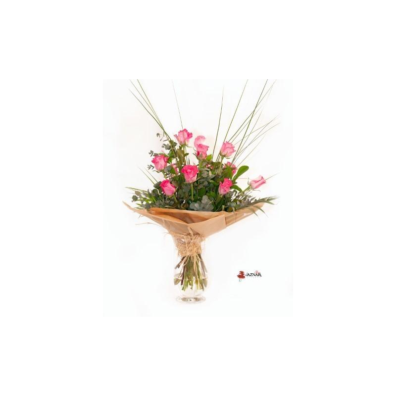 Ramo 12 rosas - Viveros Aznar - Zaragoza