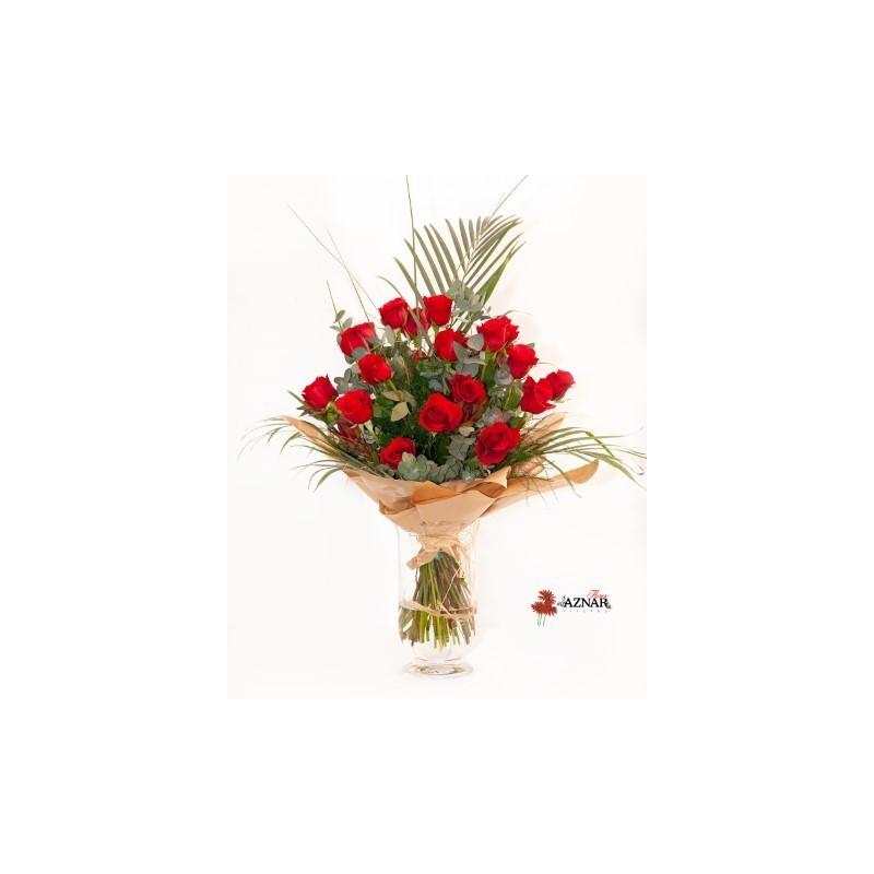 Ramo 25 rosas - Viveros Aznar - Zaragoza